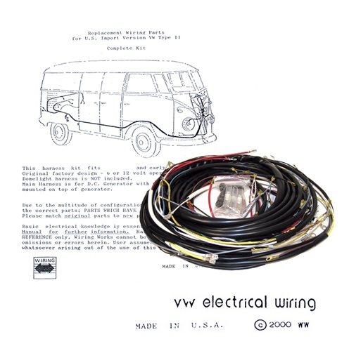 WIRINGHARNESSBus 2 wiring works, wiringworks vw bug replacement wiring harness wire Volkswagen Type 2 Wiring Harness at crackthecode.co