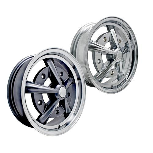 chrome  painted  polished edge empi raider alloy wheels  chrome press  center caps