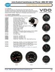 VDO Cockpit gauges, oil pressure, oil and water temperature, fuel, voltmeter, amp meter, turbo boost, cylinder head temp, hour meter, tachometer, speedometer for VW Volkswagen. VDO GAUGES The gauge that started it all. Great styling with uncompromising VD
