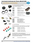 VDO gauge mounting accessories, bulbs, sockets, light diffusers, electric speedo cable conversion kits for VW Volkswagen. VDO GAUGE MOUNTING ACCESSORIES Secure mounting guarantees performance for all gauges and tachometers while adding a clean look for al